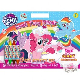 My Little Pony - Colouring Book + Giant Stickers (Free Crayon)