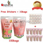 Apple Tree Breastmilk Storage Bag 100pcs (FREE 10pcs + Stickers) - 8oz