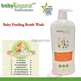 Baby Organix Baby Feeding Bottle Wash (800ml)