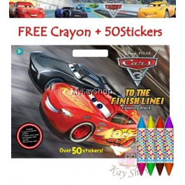 Disney Pixar Cars 3: To The Finish Line! Colouring Block with Crayons