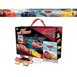 Disney Pixar Cars 3: Start Your Engines! Giant Puzzle and Storybook