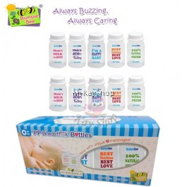 Bumble Bee Breast Milk Storage Bottles 5oz - (10 bottles)