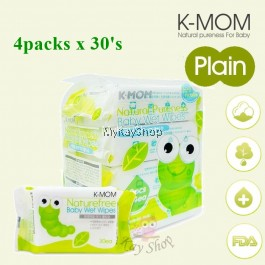K-MOM Organic Baby Wipes (4packs x 30'S) Bundle