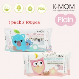 K-MOM Naturefree Wet Tissues Basic 100's - (1 Pack x 100's)