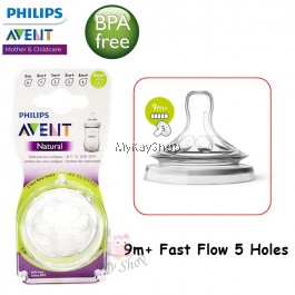 Philips Avent Natural Teats Grown Up Flow 9m+ - 2 Pieces SCF658/23