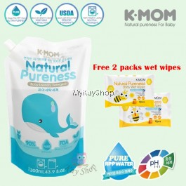 K-MOM USDA Organic Baby Laundry Detergent Refill (1300ml)