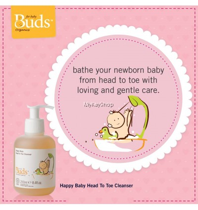 BUDS Cherished Organics:Happy Baby Head To Toe Cleanser - 250ml