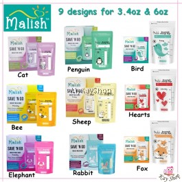 Malish Save 'N Go Breast Milk Bags (25bags) 3.4oz 100ml / 6oz 180ml