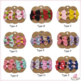 READY STOCK 4pcs/set bowknot kids hair clip