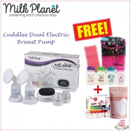 Milk Planet Cuddles Dual Electric Breast Pump - BUY 1 FREE 4