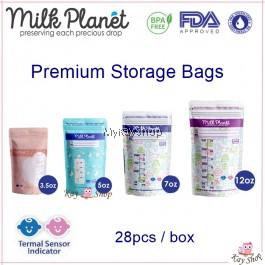Milk Planet Premium Breastmilk Storage Bag with Thermal Sensor Indicator -  3.5oz/5oz/7oz/12oz