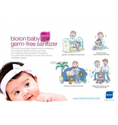 Bioion Baby Germ-Free Sanitizer Non-Alcohol Water Based - 250ml