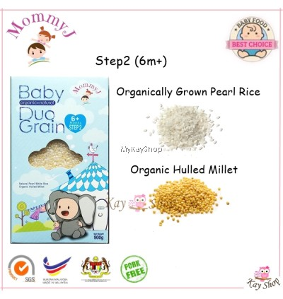 MommyJ/Mommy J STEP 1 / 2 / 3 / 4 - Baby Organic Natural Grains- 900g (Exp - Jun 2021)