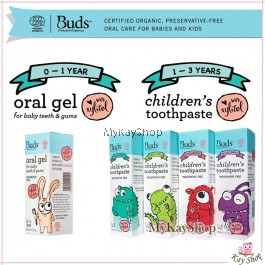 Buds Oral Gel for Baby Teeth and Gums / Children's Toothpaste with Xylitol