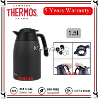 Thermos Vacuum insulated 1.5L Lifestyle Stainless Steel Carafe-THV-1501K(HT)