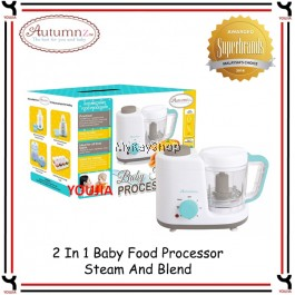 Autumnz 2 In 1 Baby Food Processor Steam And Blend