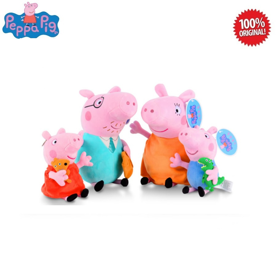 Peppa Pig Plush Toys : Family of 4