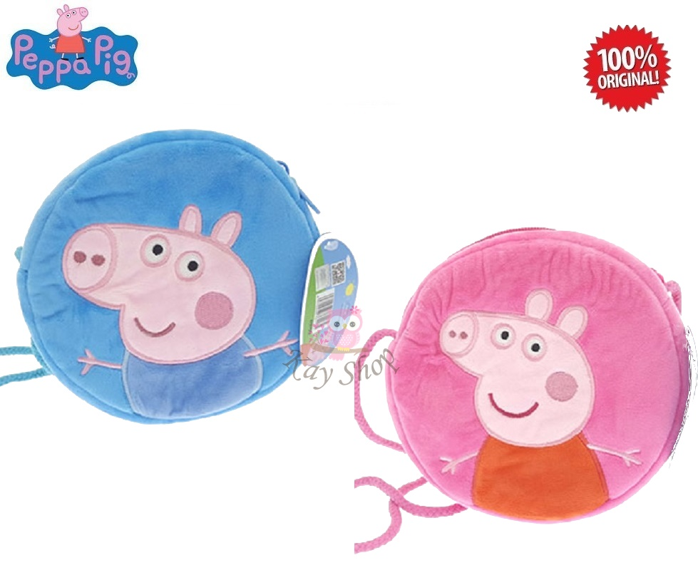 Peppa Pig Stationery: Peppa Round Wallet (Pink / Blue)